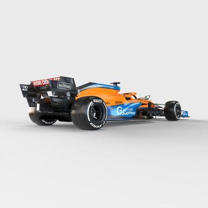 McLaren manteve o visual laranja com detalhes em azul para a temporada 2021 da Fórmula 1