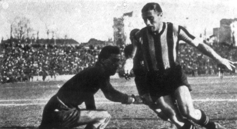 Giuseppe Meazza, na Inter, década de 30