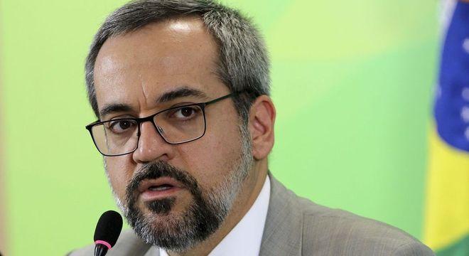 Na imagem, o ministro da Educação, Abraham Weintraub