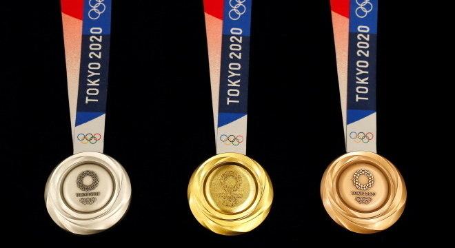 Medalhas que serão entregues nas Olimpíadas de Tóquio