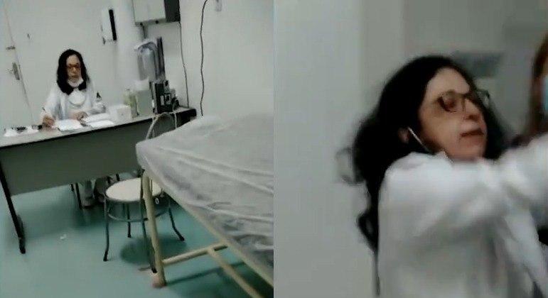 Médica sem máscara ignora idosa e agride filha de paciente no hospital Heliópolis