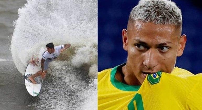 Richarlison achou um absurdo o resultado de Gabriel Medina no surfe olímpico