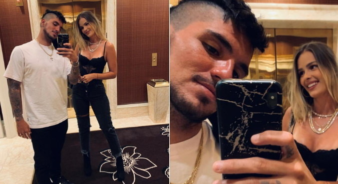 Em Las Vegas, Gabriel Medina e Yasmin Brunet curtiram noite romântica