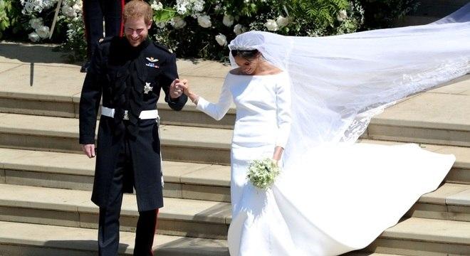 Meghan Markle e Harry se casaram em maio de 2018