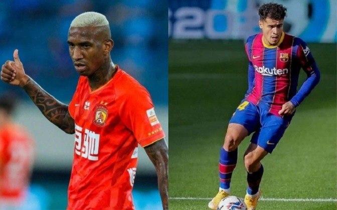Meia: Anderson Talisca (atualmente no Guangzhou Evergrande) x Philippe Coutinho (atualmente no Barcelona)