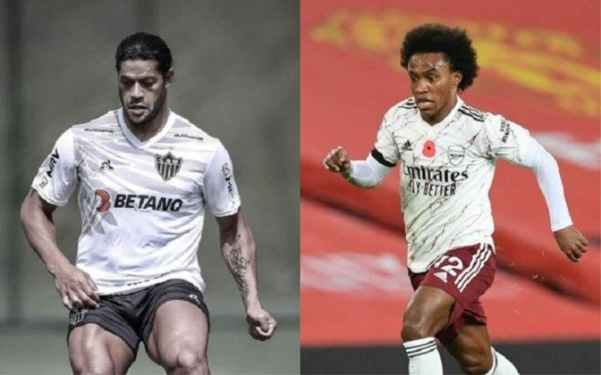 Meia-atacante: Hulk (atualmente no Atlético-MG) x Willian (atualmente no Arsenal)