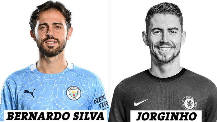 MEIO-CAMPISTA: 14 votos para Bernardo Silva; 1 voto para Jorginho.
