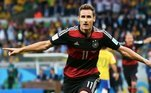 7. Miroslav KloseO alemão é simplesmente o maior artilheiro de Copas do Mundo, tendo sido campeão em 2014