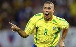 1. Ronaldo FenômenoRonaldo não ganhou o apelido de Fenômeno à toa. O atacante brasileiro era um autêntico camisa 9 e liderou a seleção no pentacampeonato