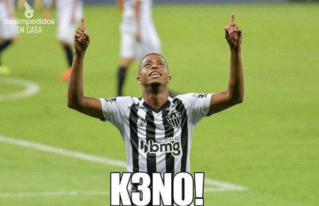 Memes: após segundo hat-trick consecutivo, Keno foi exaltado pelos torcedores do Atlético-MG.