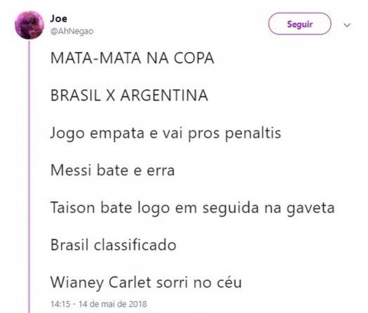 Memes brincam com lista para Copa da Rússia