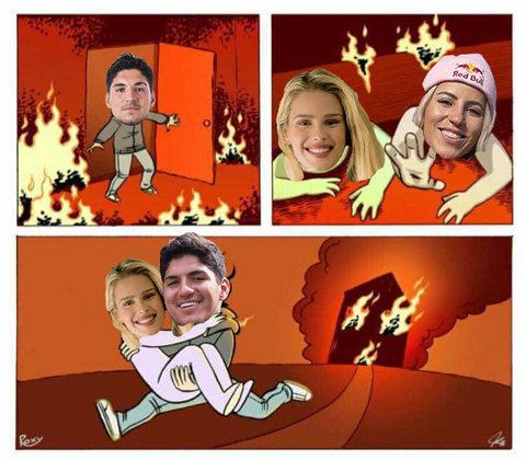 Memes brincam com polêmica envolvendo Yasmin Brunet, Gabriel Medina e Leticia Bufoni