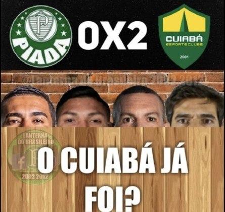 Memes: Corintianos ironizam derrota do Palmeiras para o Cuiabá