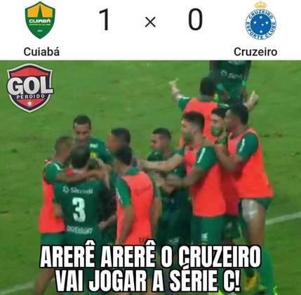 Memes: Cruzeiro perde para o Cuiabá, volta para zona de rebaixamento e não escapa das zoeiras.