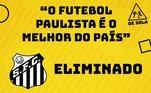 Eliminações de Corinthians e Santos, na Copa do Brasil, do São Paulo, na Copa Sul-Americana, viram piada na internet