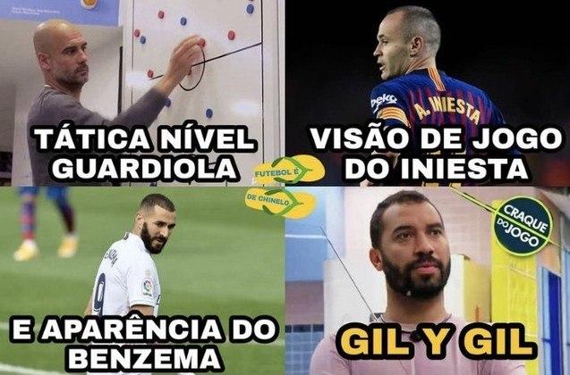 Memes do BBB21 - Desde o início do programa, Gilberto tem sido comparado com o francês Karim Benzema