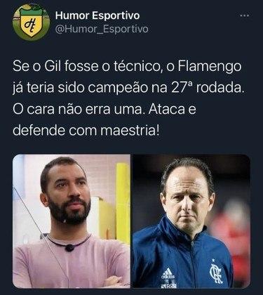 Memes do BBB21 - Será que os torcedores do Flamengo trocariam o Rogério Ceni pelo Gilberto?