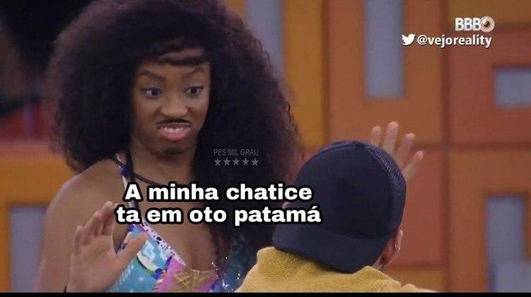 Memes do BBB21 - Uma das participantes com maior índice de rejeição no programa, Lumena já foi comparada com o atacante Bruno Henrique