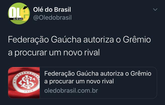 Memes do Gre-Nal 426: torcedores do Grêmio comemoram título do returno sobre o Internacional