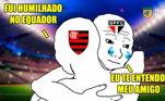 A fase do São Paulo não está fácil. Sem levantar uma taça desde 2012, o time perdeu por 4 a 2 para a LDU, na noite desta terça e praticamente deu adeus à Libertadores. Os rivais, claro, não perdoaram