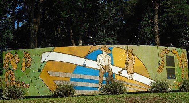 Memorial da Soja em Santa Rosa; cidade gaúcha ganhou o título de 'Berço Nacional da Soja'