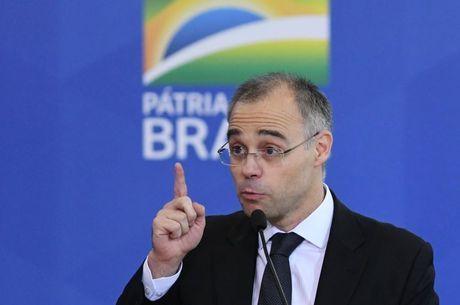 André Mendonça durante seu discurso de posse