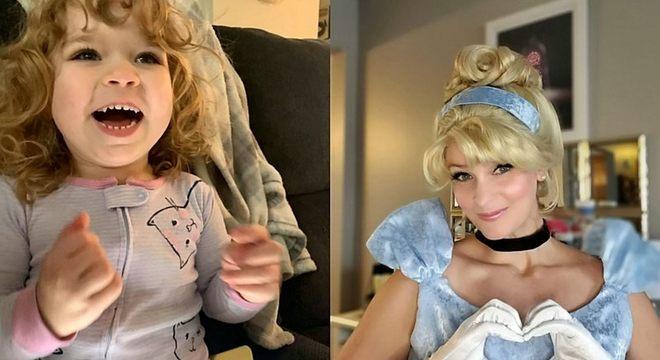 Maddie Stewart comemorou muito quando viu a princesa