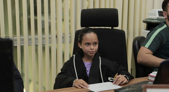 Ana Luísa participou de uma audiência no Tribunal de Justiça do Amazonas