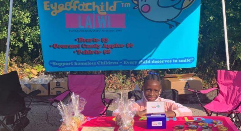 Ela conseguiu diversas doações para outras crianças menos favorecidas