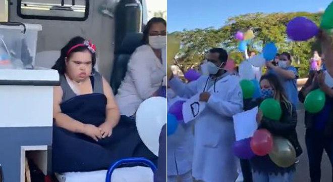 Amanda ganha homenagem de familiares e profissionais da saúde