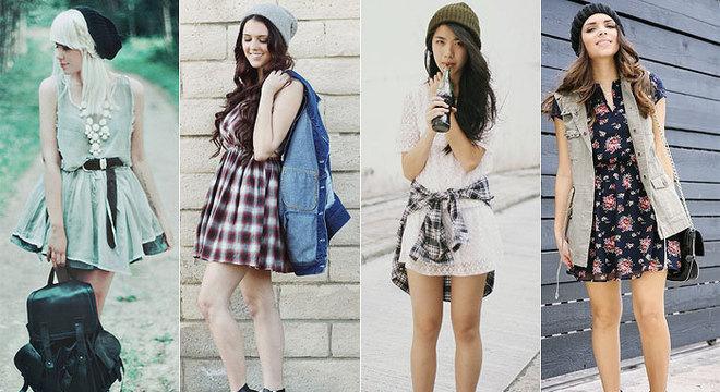 meninas usando vestidos românticos