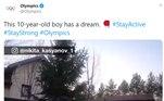 O sucesso é tanto, que o menino russo foi parar no Twitter dos Jogos Olímpicos... É esperar para ver o que acontecerá com o determinado Nikita