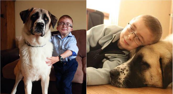 A família adotou o cão quando Owen passava por um momento de baixa autoestima