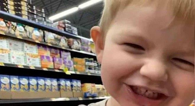 Menino de dois anos que desapareceu e agora a polícia fez uma descoberta
