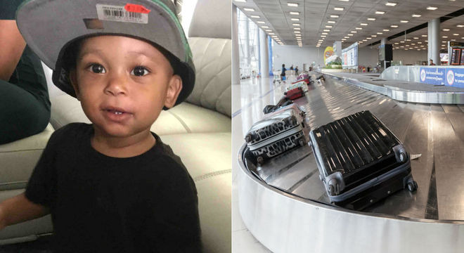 Menino faleceu após cair perto da esteira do aeroporto