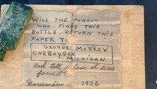 Mulher acha bilhete escrito em 1926 e localiza filha do autor
