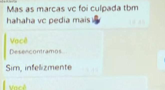 Troca de mensagens deprimente e explícita entre Neymar e Najila