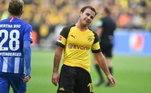 Mario Gotze - Está sem clube desde o encerramento do seu vínculo com o Borussia Dortmund. Tem gente interessada, mas o salário é alto... daí sem acordo fechado