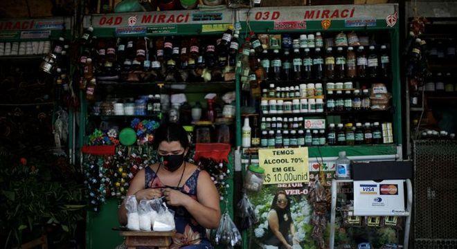 Mercado fluvial Ver-o-Peso, em Belém (PA)