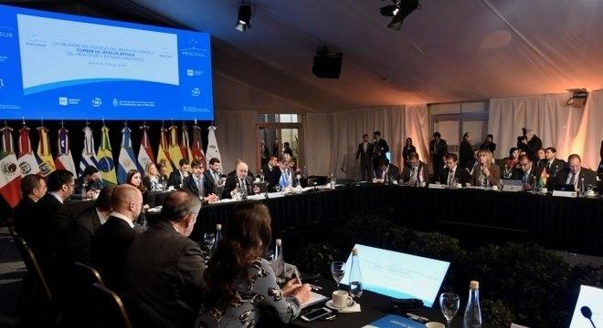 Presidentes do Mercosul que se reúnem esta semana na cúpula do bloco