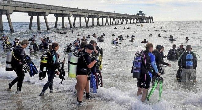 Recorde pertencia aos mergulhadores que limparam o mar Vermelho, em 2015