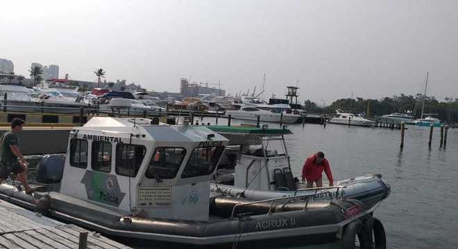 Equipes de até oito mergulhadores realizam a remoção dos corais