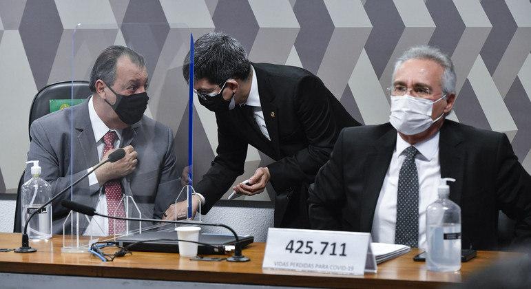 Mesa diretora da CPI da Covid no Senado