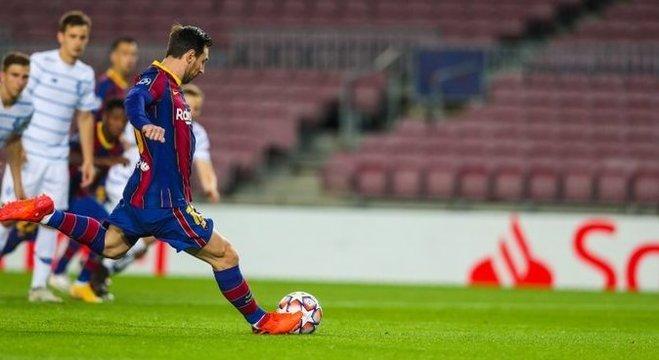 Messi, no momento da cobrabça do penal