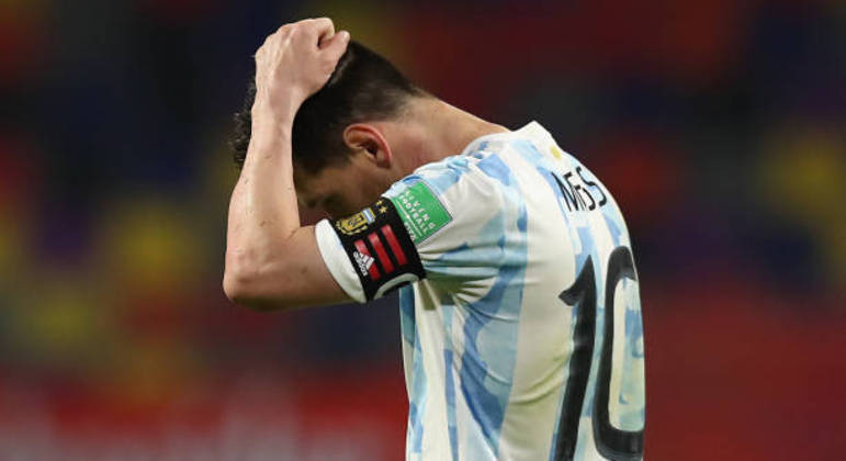 Messi, o desalento da Argentina pelo empate da Colômbia