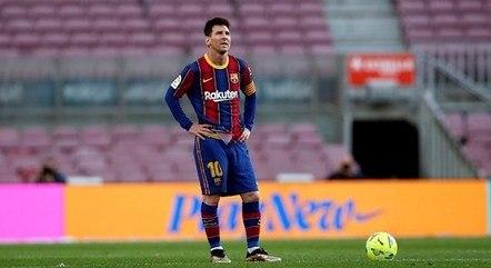 Messi chorou ao se despedir do Barcelona