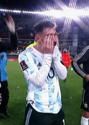 As lágrimas de alegria de Messi