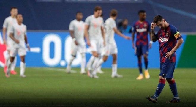 Messi não se conformou com a humilhante derrota por 8 a 2 para o Bayern