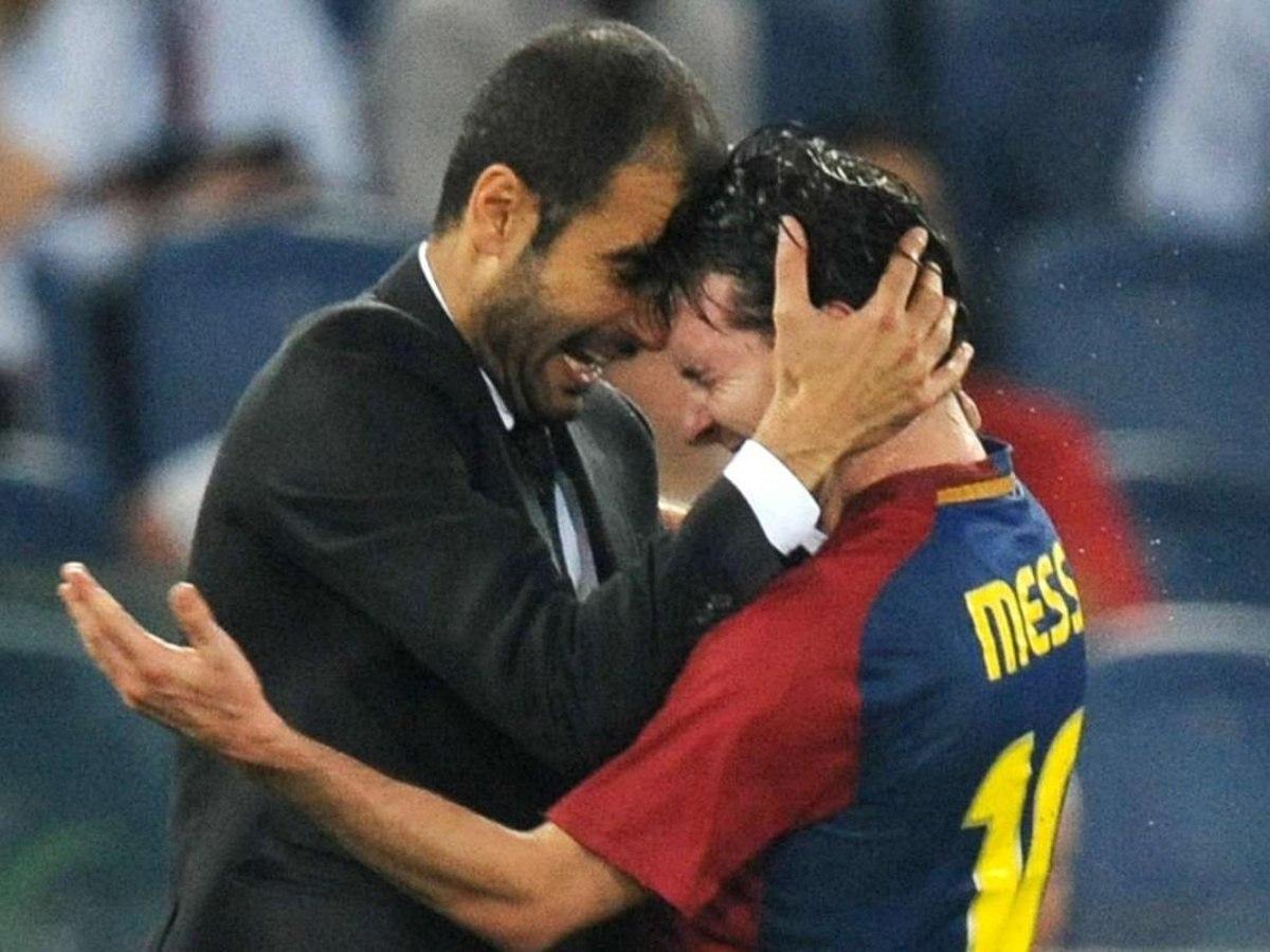 Messi tem relação enorme de carinho com Guardiola. City é o óbvio caminho