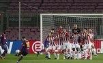 Barcelona venceu o Athletic Bilbao, no Camp Nou, em partida válida pela 21ª rodada do Campeonato Espanhol, por 2 a 1, com um gol de falta Messi — de número 650 pelo clube — e outro de Griezmann
